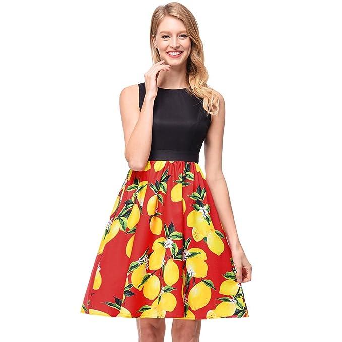 antaina Chaleco Estampado Mango Rojo Chaleco Estampado Vintage Color Plisado Llamarada Vintage Mujer,S