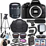 Canon EOS Rebel T6i Video Creator Kit with Canon EF-S 18-55mm IS STM Lens + 2 x 32GB SD Card Accessory Bundle – International Version