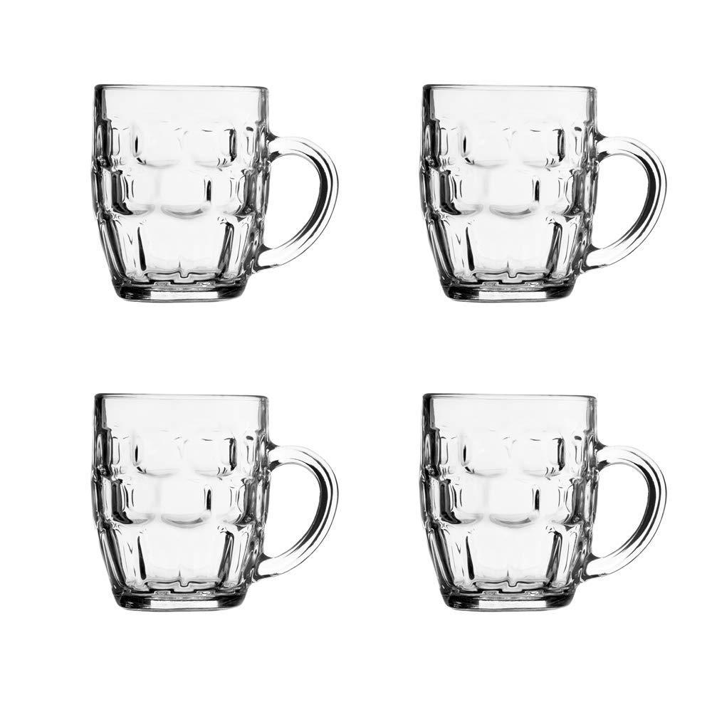 The Bar Glass Dimple Style Beer Glass Mug 19.25 oz. (4, 19.25 oz)