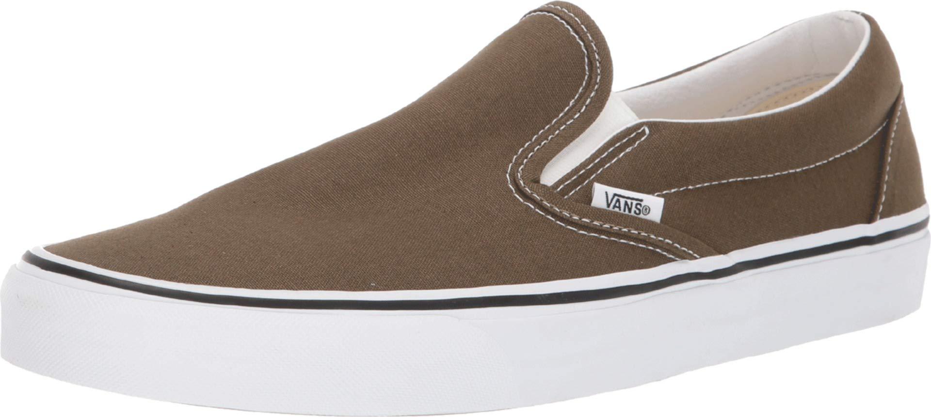 Vans Unisex Classic Slip-On Skate Shoe (10.5 Women/9 Men, Beech/True White) by Vans