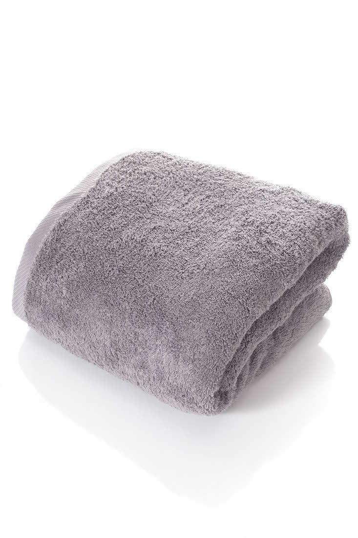 THIRSTY 100% Non-GMO Turkish Cotton Bath Sheet, Extra Long 40''x80'', Towels, 670 GSM Weight. (40X80, Smoke)