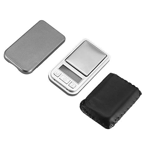 Lorenlli Mini Digital Pocket Scale 200g 0.01g Medición de peso de precisión para cocina Joyería