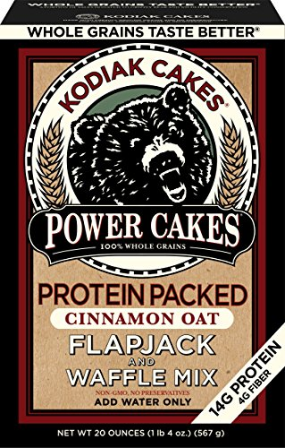 Kodiak Cakes Power Cakes, Non GMO Protein Pancake, Flapjack and Waffle Mix, Cinnamon Oat, 20 Ounce (Pack of 6)
