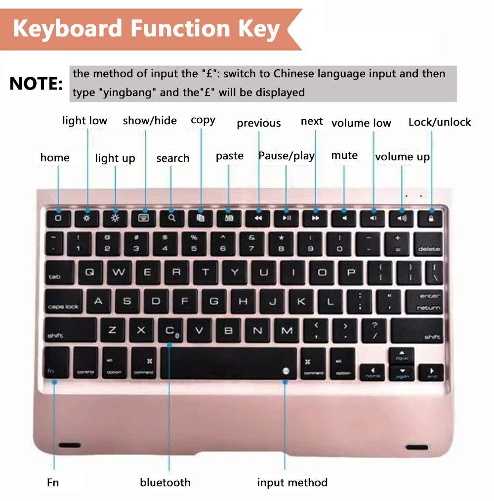 Ultra Slim ipad Cover and iPad Pro 9.7 Cover//iPad Air//iPad Air 2 Folio Case with Keyboard Wireless Bluetooth iPad Keyboard Case for 9.7 inch New 2018 iPad 6 5th Gen 6th Gen //2017 iPad 5