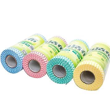 ENCOCO Toallas de limpieza desechables, toallas de platos y paños de platos reutilizables, toallas de platos y paños de platos reutilizables 4 Pc/4 Color: ...