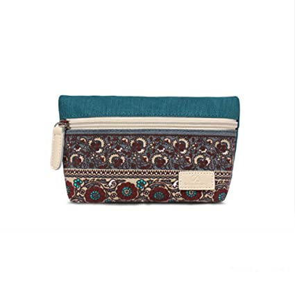 77d8f8b7226c Image Unavailable. Image not available for. Color  Iumer Ethnic Coin Purse  Zipper Women Boho Change Purse Pouch Wallet Makeup Cosmetic Bag ...