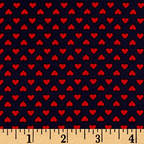 Robert Kaufman Kaufman Sevenberry Classiques Small Hearts Americana Fabric by The Yard,