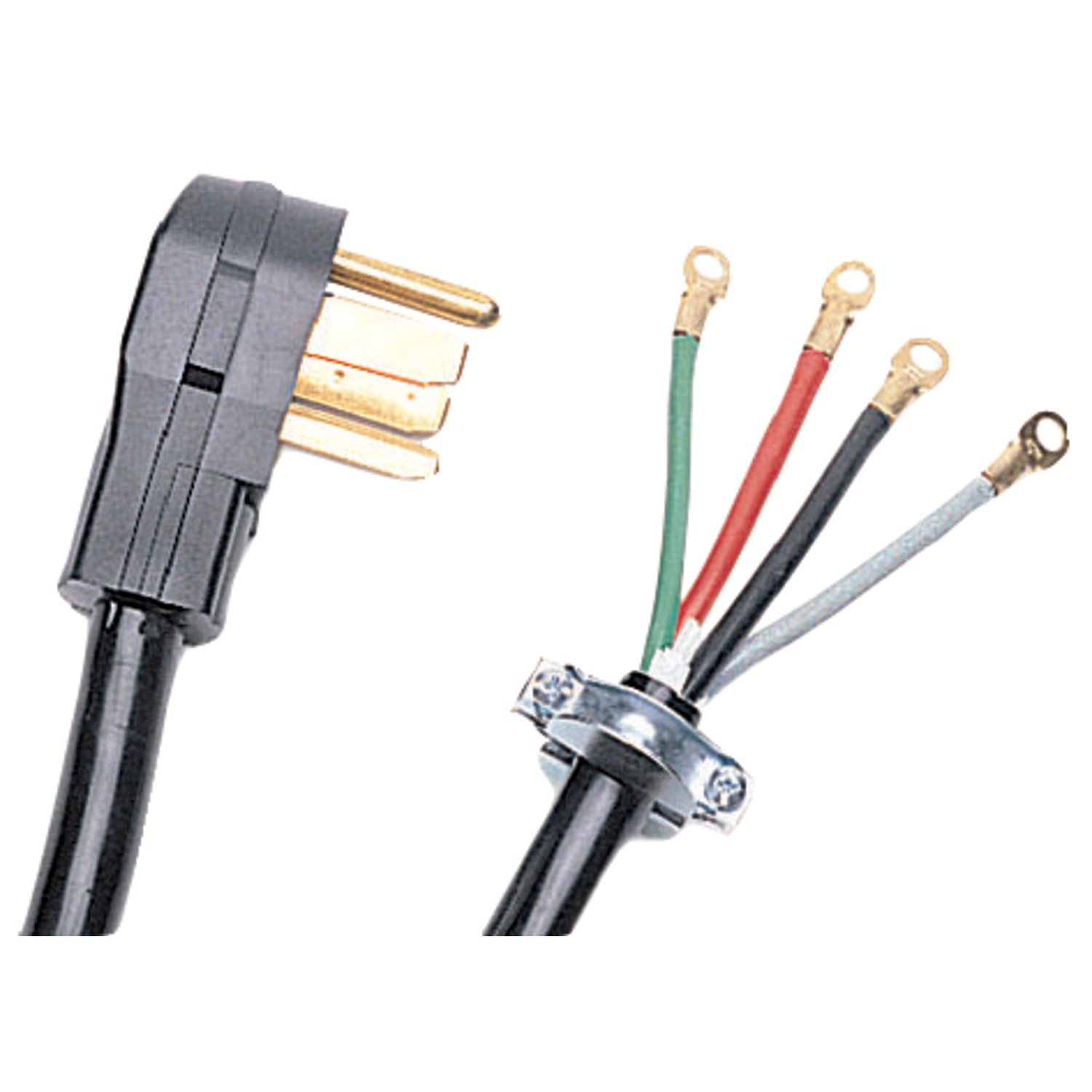 617jsJUbnvL._SL1500_ amazon com certified appliance 90 2028 4 wire dryer cord (10ft 3 Prong Plug Wiring Colors at n-0.co
