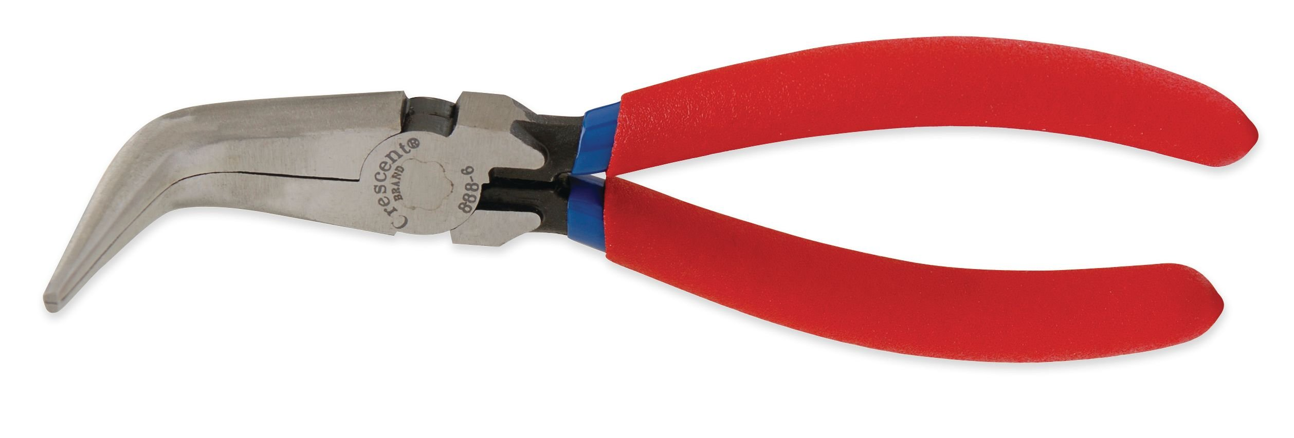 Crescent 8886CVN 6'' Curved Needle Nose Solid Joint Pliers, Cushion Grip