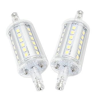 Bonlux 2-pack 5W R7s 78MM LED Focos Bombilla Luz Fría 6000K 360 grados con