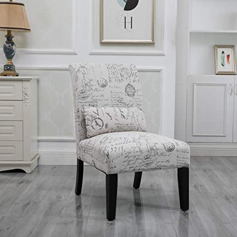 Homesailing Living Room Side Accent Chairs Corner Bedroom Comfy Armless Occasional Chair Fabric Upholstered High Back Recliner Chairs For Spare Room