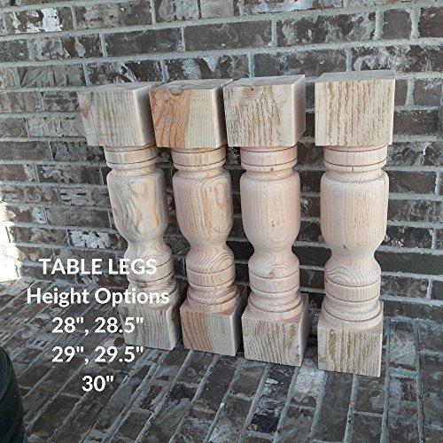 Chunky Farmhouse Table Legs 5