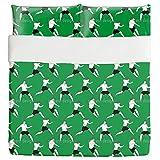 On The Soccer Field Duvet Bed Set 3 Piece Set Duvet Cover - 2 Pillow Shams - Luxury Microfiber, Soft, Breathable