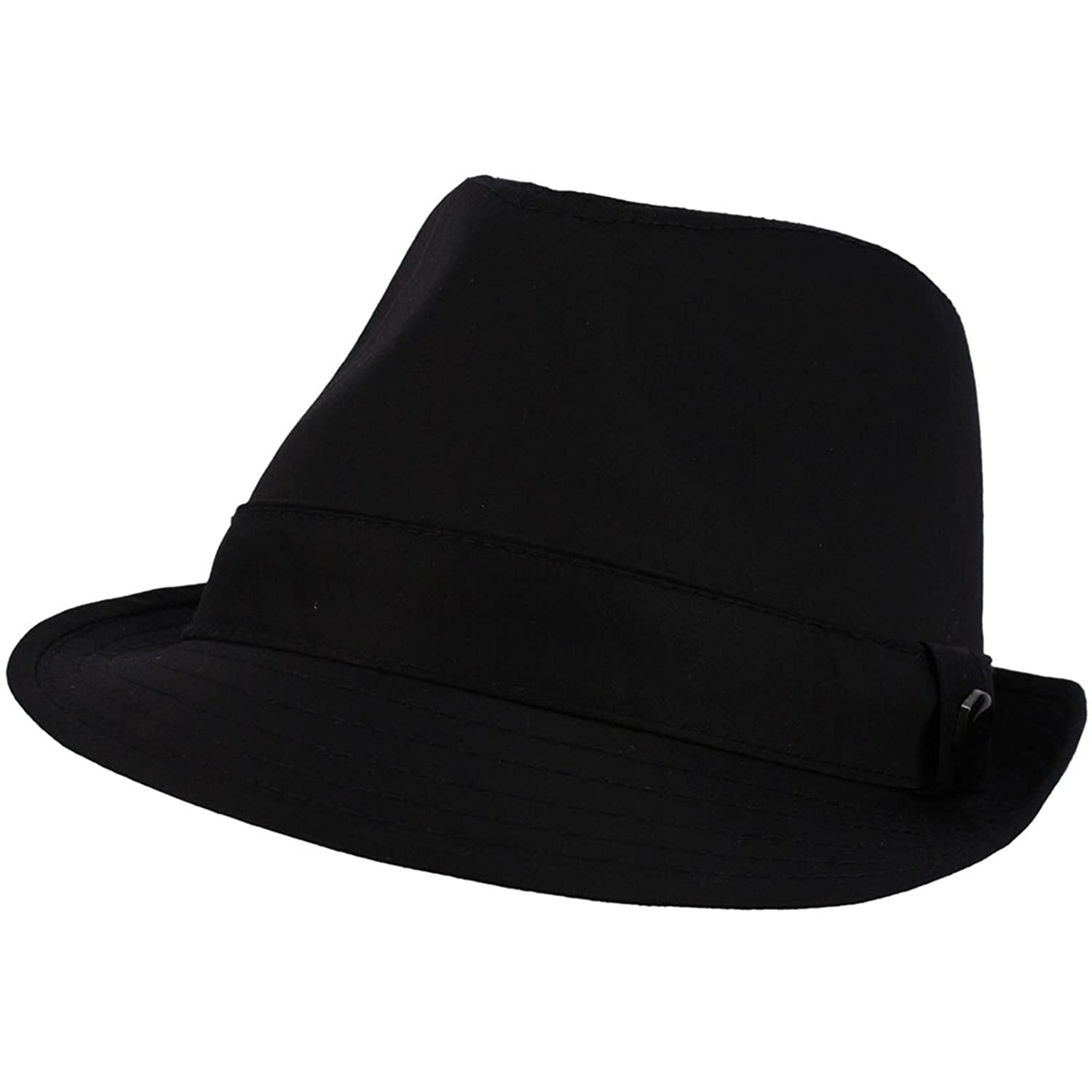 SK Hat shop Men s 100% Cotton Summer Cool Solid Blank Fedora Derby Trilby  Hat at Amazon Men s Clothing store  b4c92086dc0