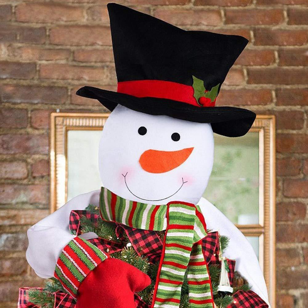 JUNMAONO Christmas Decoración, Muñeco De Nieve Adornos para La Copa del árbol, Adornos De Muñeca, Navidad Decoraciones, Adornos Navideños (2): Amazon.es: ...