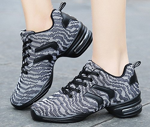 Outdoor 5US 5 Black JiYe White Women by Dance Cushion Sneakers Air Shoes Sports Women's Soft TxBwx5