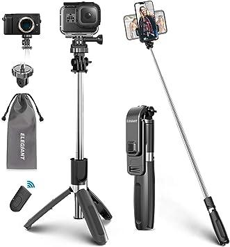 ELEGIANT Palo Selfie Trípode Bluetooth, 4 en 1 Selfie Stick Móvil con Control Remoto, Deportivo Extensible para Viaje, Monopié con Obturador Rotación 360° para Gopro, Mini Cámara, Celular Android iOS: Amazon.es: Electrónica