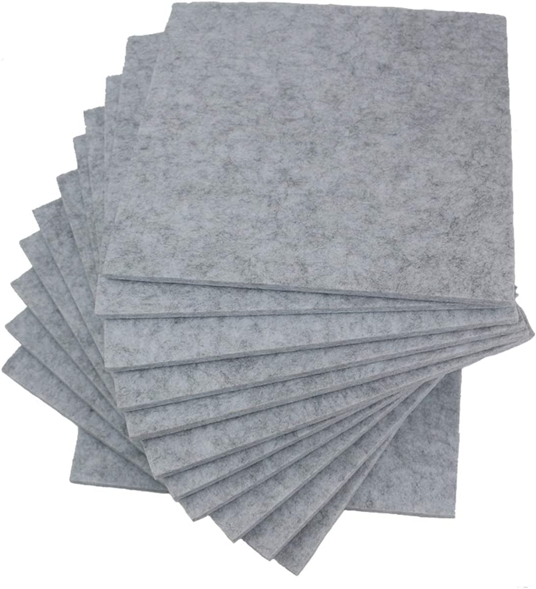 Orgrimmar 12 Pack Acoustic Panels, 12 X 12 X 0.4 Inches Grey Acoustic Sound Proofing Studio Foam Padding Soundproofing Insulation Panel Tiles For Acoustic Treatment& Offices (Gray)