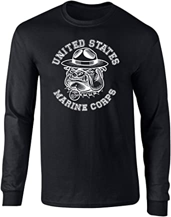 US Marines SGT Carter Bulldog Graphic Officially Licensed Long Sleeve T Shirt