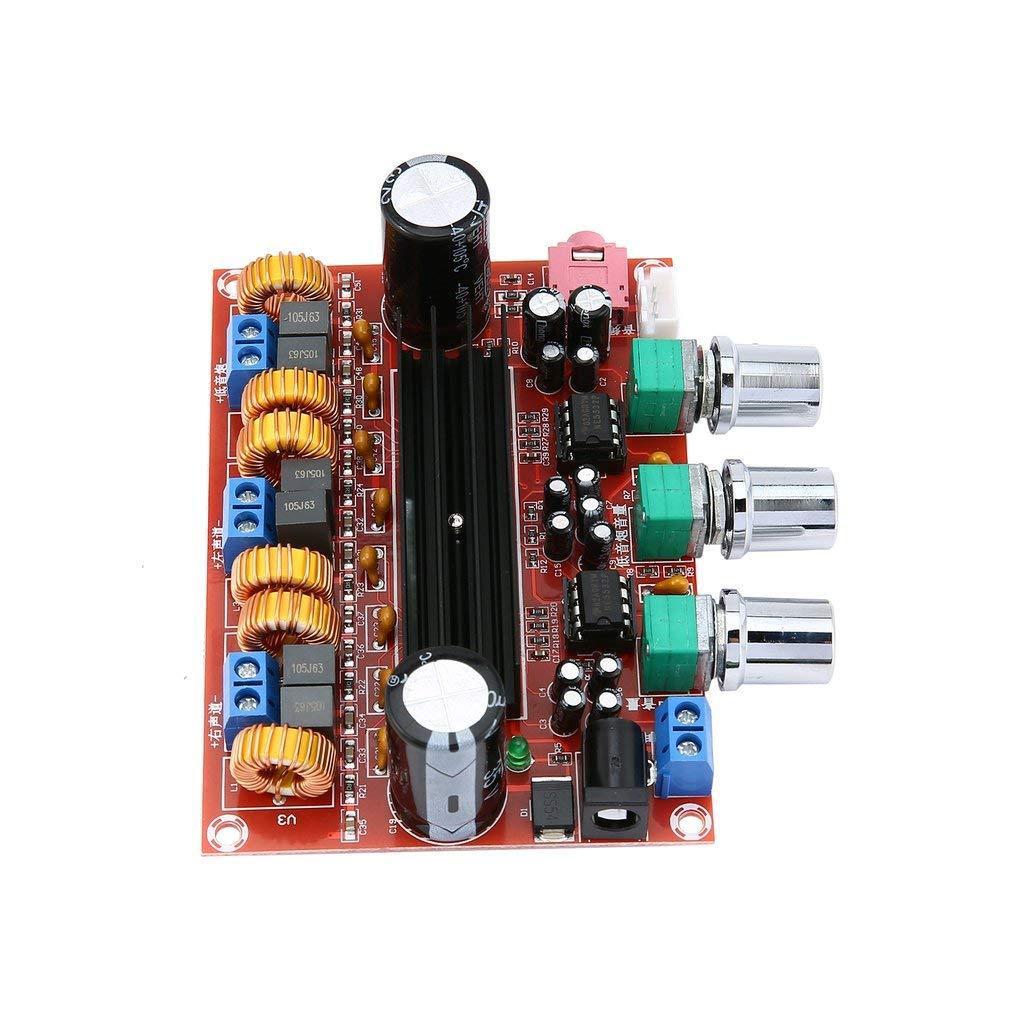 DERNON Verst/ärker Dual Chip TPA3116D2 2 x 50W 100W 2.1 Path Digital Subwoofer rot