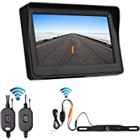 OBAST Wireless Backup Camera and Monitor Kit - Rear View Reversing License Plate Camera with Waterproof Night Vision and…