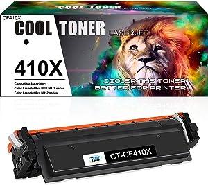 Cool Toner Compatible Toner Cartridge Replacement for HP 410X 410A CF410X CF410A HP Laserjet Pro MFP M477fnw M477fdw M477fdn M477 477fdn M452dn M452dw M452nw M452 Printer Toner Ink (Black, 1-Pack)