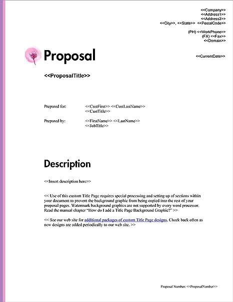 Amazon Com Proposal Pack Minimalist 10 Business