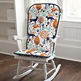 Carousel Designs Navy and Orange Woodland Rocking Chair Pad
