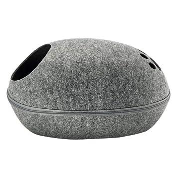 Amazon.com: laamei - Cama para gato con forma de cueva de ...