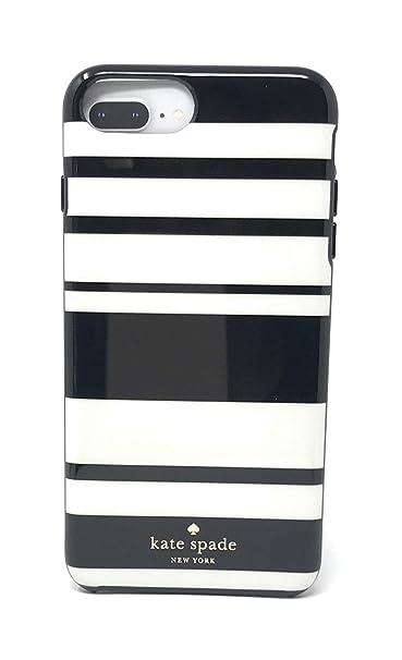 the best attitude 82b6b 49350 kate spade New York Black/White Fairmont Stripes Protective Rubber Case For  iPhone 8 Plus/iPhone 7 Plus/iPhone 6 Plus