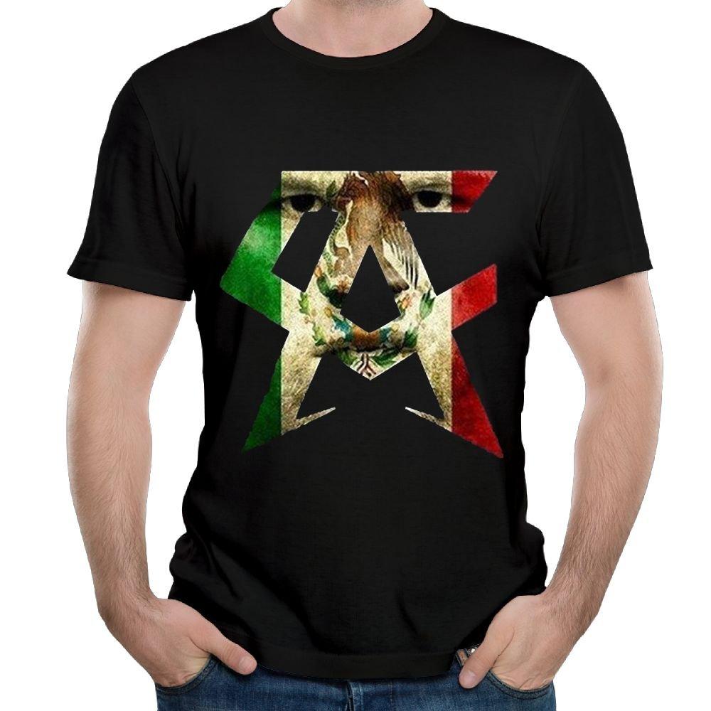 ZHIJIANSHIGONG Men's Canelo Alvarez Casual Style Running Black T Shirts Short Sleeve