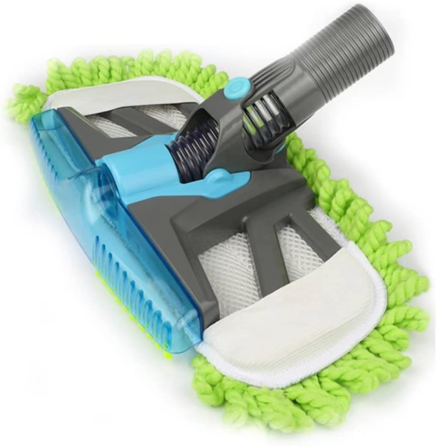 1-1/4inch Mophead Floor Brush Vacuum Dust Nozzle Brush for Universal Vacuums Cleaner Flexible Rotate Microfiber Brush Head with Mop Pad Green (32mm)