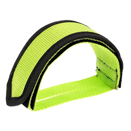 Pair Green Cycling Bicycle Bike Foot Pedal Straps Fixed Anti-slip Toe Clips