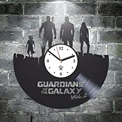 Guardians of the Galaxy 2 Hero Best Gift For Him Kovides Vinyl Wall Clock Home Decor, Decoration Living Room Inspirational Comics Marvel DC Movie, Vinyl Wall Clock with Silent Mechanism, Wall Sticker