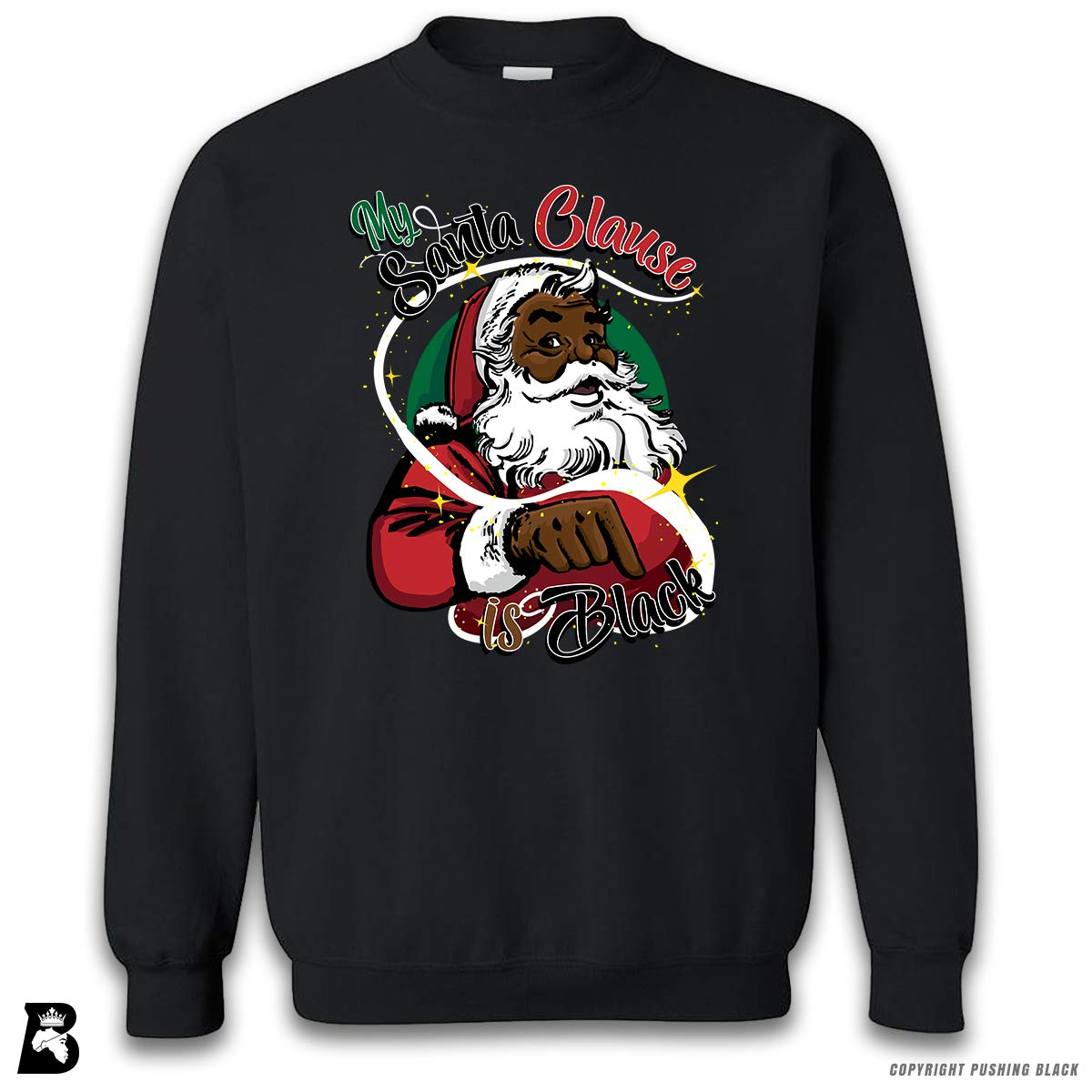 My Santa Clause is Black Premium Unisex Sweatshirt