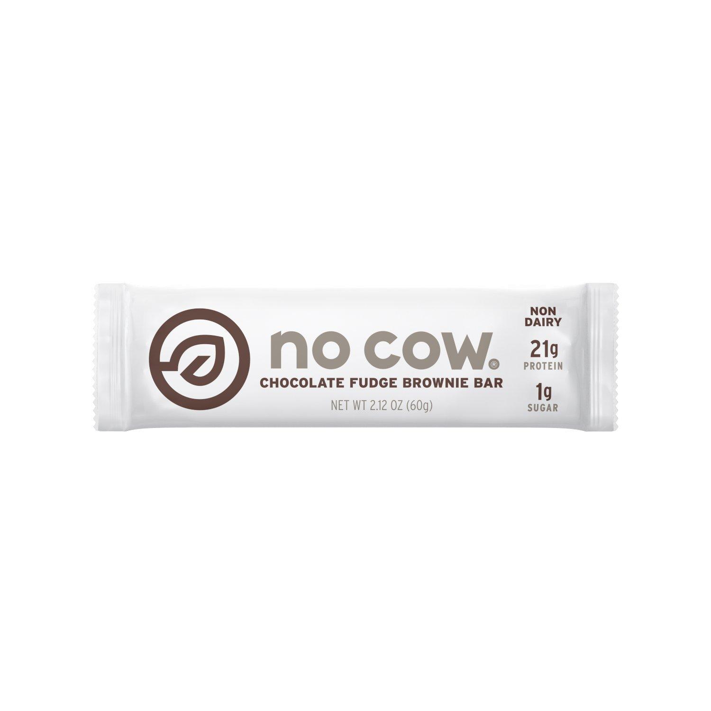 Amazon.com: No Cow Protein Bar, Chocolate Fudge Brownie, 21g Plant ...