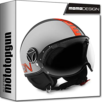 MOMO-DESIGN CASCO MOTO FIGHTER EVO METAL NARANJA FLUO XS
