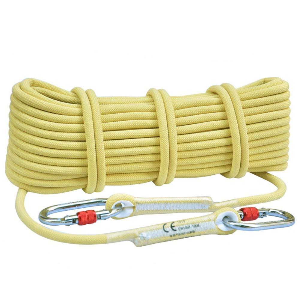- Escalade Corde Corde d'escalade de 10,5 mm en Kevlar de qualité supérieure - Corde à Usage intensif, idéale pour Grimper aux Arbres, Escalade, Jaune 10m