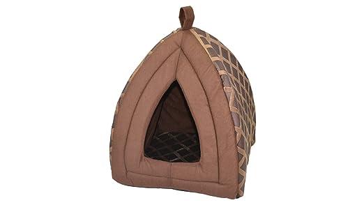 BEDWAY Igloo casa acogedora casa Cueva Cama Acolchada para Perro de Mascota Gato de Gato con Aislamiento: Amazon.es: Productos para mascotas