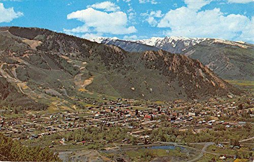 Aspen Colorado Birdseye View Of City Vintage Postcard K62553