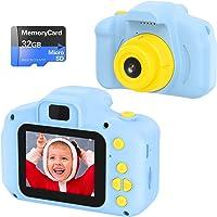 Cámara de Fotos Digital para Niños Juguetes de Niño Regalos para Niños Pantalla HD de 2 Pulgadas 1080P Tarjeta de 32GB…