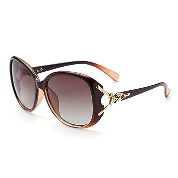 Gafas De Sol Polarizadas Mujeres Gafas De Sol Marea 2018 Protección UV Gafas Caras Largas Y Redondeadas Gafas De Sol De Diseño Fresco,Brown: Amazon.es: ...