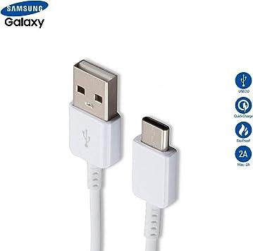 SAMSUNG Cable de Datos USB Galaxy A5 (2017) A7 (2017) (2017) Galaxy S8 / S8 Plus de 5 pies, Color Blanco: Amazon.es: Electrónica
