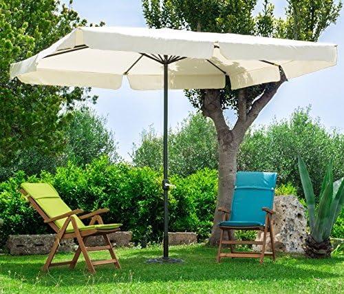 Sombrilla Cuadrado 3 x 3 de Aluminio Negro Lienzo Crudo de jardín terraza Bar Camping con Tratamiento anticorrosión: Amazon.es: Jardín