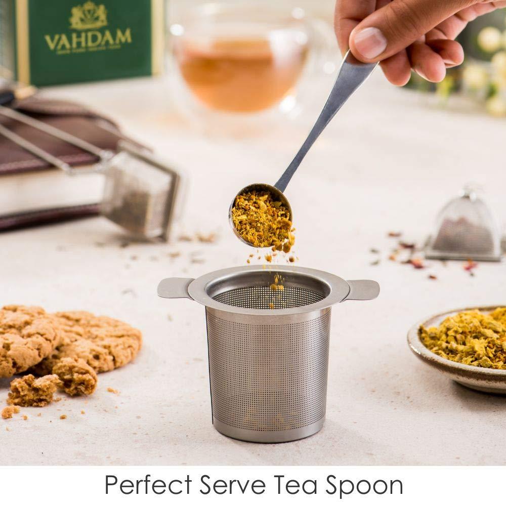 Set de 2 infusores y 1 cucharilla - 100% acero inoxidable, filtro de té DE LA MEJOR CALIDAD - Infusor de té cuadrado, infusor triangular y la perfecta ...