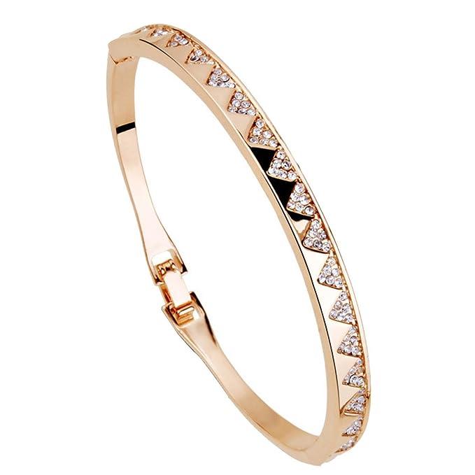 408fdb4f2d23 MSNHMU Regalos De Año Nuevo Elemento Brazalete Diamante Pulsera Ajustable  Joyas Para Mujer