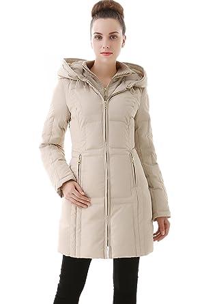 ebab7662bb0e28 Jessie G. Women's Water Resistant Down Coat - Beige XL at Amazon ...
