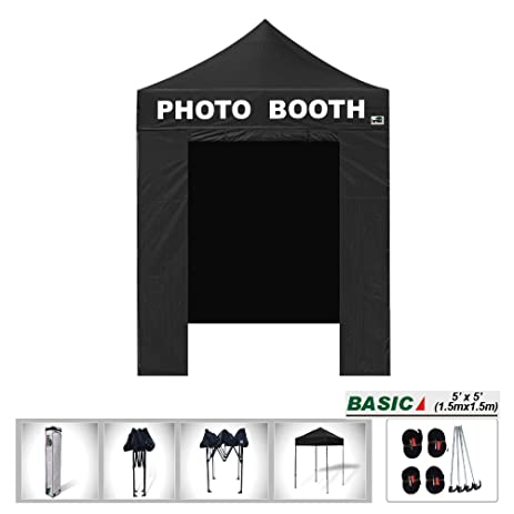 Eurmax Basic 5x5 Pop Up Canopy Tent with Photo Booth Printed On 4 Valances ( 5x5  sc 1 st  Amazon.com & Amazon.com : Eurmax Basic 5x5 Pop Up Canopy Tent with Photo Booth ...