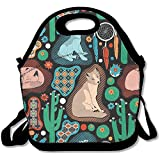 Staroind Southwest Baby Wolves Lunch Tote Bag Bags Awesome Lunch Handbag Lunchbox Box For School Work Outdoor
