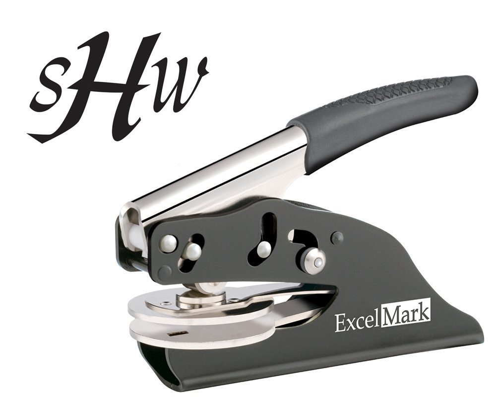 ExcelMark Hand Held Embosser - Monogram Gift Embosser - Style 56 by ExcelMark